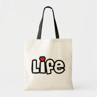 Vida del amor bolsa tela barata