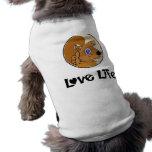 Vida del amor camisetas de perro