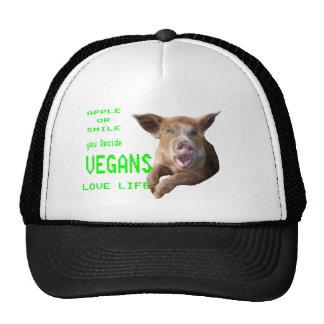 vida del amor de los veganos gorros bordados