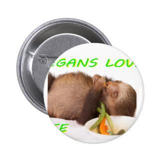 vida del amor de los veganos, slothie chapa redonda 5 cm