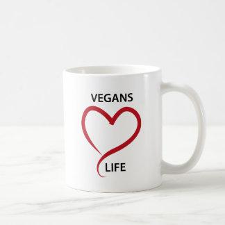 Vida del amor de los veganos taza