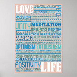 """""""Vida del amor"""" - inspirando y diseño del arte de  Impresiones"""
