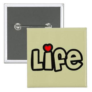 Vida del amor pin cuadrada 5 cm