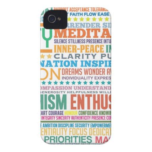 """""""Vida del amor"""" que inspira y productos de la moti iPhone 4 Fundas"""