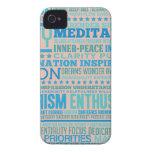 """""""Vida del amor"""" que inspira y productos de la moti Case-Mate iPhone 4 Carcasa"""