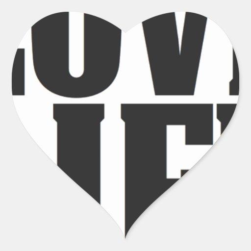 """""""Vida del amor"""" que inspira y productos de la Pegatina En Forma De Corazón"""