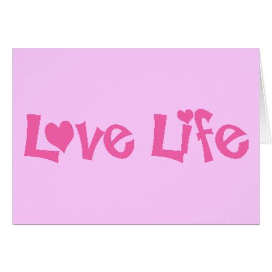 Vida del amor tarjeta de felicitación