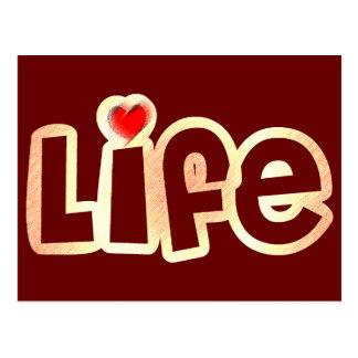 Vida del amor tarjeta postal
