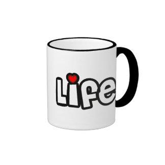 Vida del amor taza de café