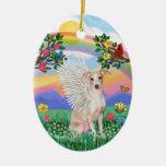 Vida del arco iris - galgo italiano (cervatillo) ornamentos de reyes