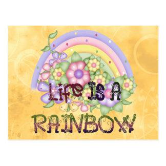 Vida del arco iris tarjeta postal