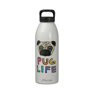 Vida del barro amasado botellas de agua reutilizables