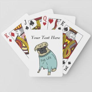 Vida del barro amasado - perro divertido en un barajas de cartas