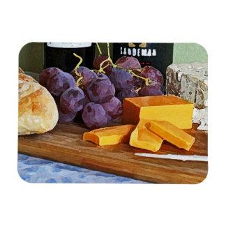 Vida del Cheddar de las uvas del pan y todavía de  Rectangle Magnet