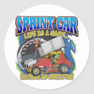 Vida del coche de Sprint Etiquetas Redondas