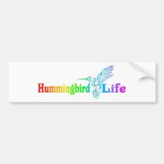Vida del colibrí pegatina para auto