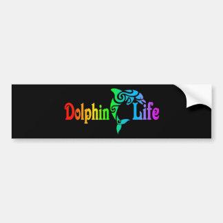 Vida del delfín pegatina para auto
