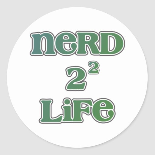 Vida del empollón 4 ajustada etiqueta redonda