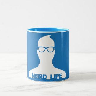 Vida del empollón taza de dos tonos