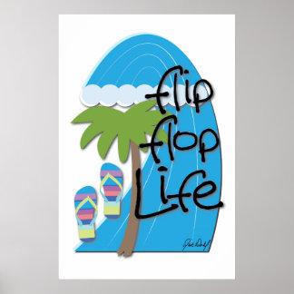 Vida del flip-flop póster