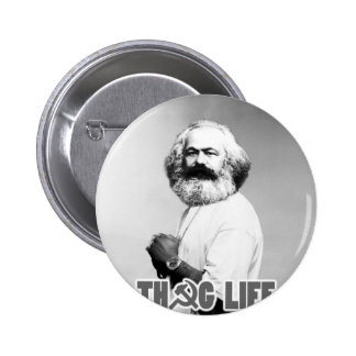 Vida del gamberro de Karl Marx Pin Redondo De 2 Pulgadas