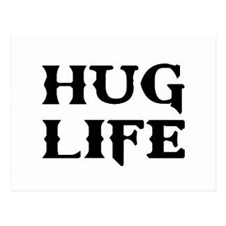 Vida del gamberro de la vida del abrazo tarjeta postal