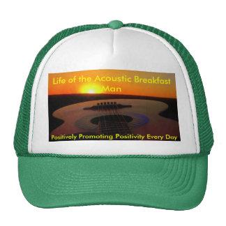 Vida del hombre acústico del desayuno gorro