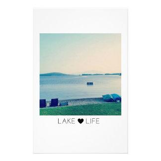 Vida del lago inmóvil papelería