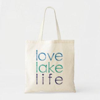 Vida del lago love bolsa tela barata