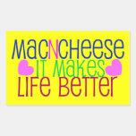 Vida del mac y del queso pegatina