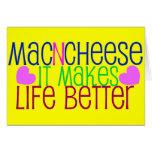 Vida del mac y del queso tarjetas