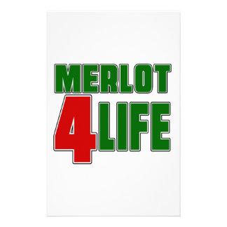 Vida del MERLOT 4 Personalized Stationery
