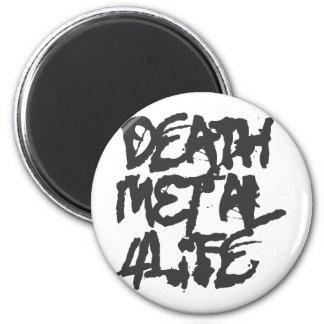Vida del metal 4 de la muerte imán redondo 5 cm