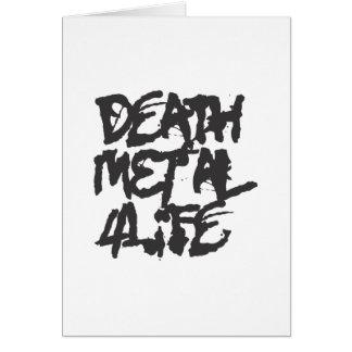 Vida del metal 4 de la muerte tarjeta de felicitación