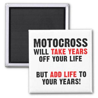 Vida del motocrós a su imán de la bici de la