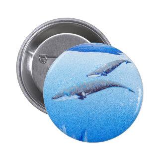 Vida del océano: Ballenas: Botón redondo Pin Redondo De 2 Pulgadas