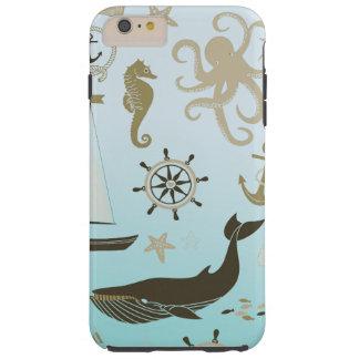 Vida del océano funda de iPhone 6 plus tough