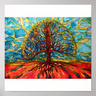 Vida del odf del árbol póster