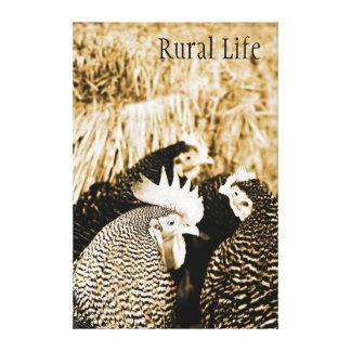 Vida del país - lona del gallo y de la impresión impresión en tela