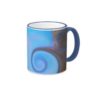 Vida del pavo real taza de dos colores
