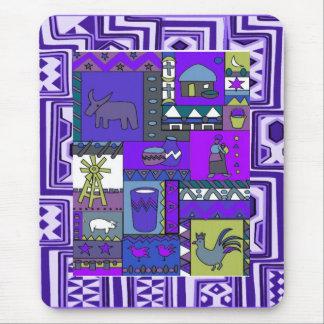 Vida del pueblo - arte de Aftrican Tapete De Ratones