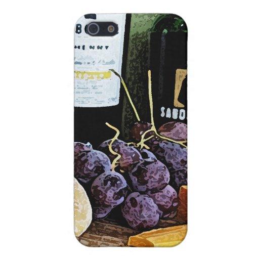 Vida del queso y todavía de las uvas del pan del v iPhone 5 cárcasa