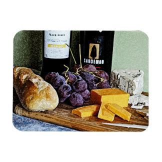 Vida del queso y todavía de las uvas del pan del v iman de vinilo