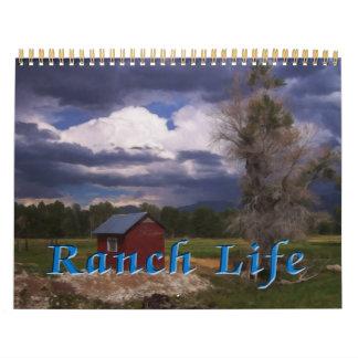Vida del rancho calendario de pared