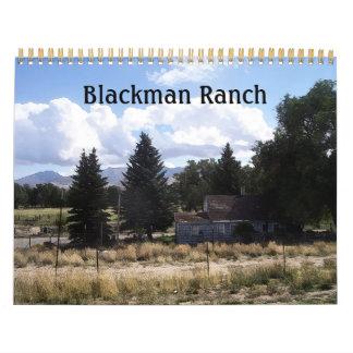 Vida del rancho de Blackman Calendario De Pared