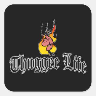 Vida del Thuggee Pegatina Cuadrada