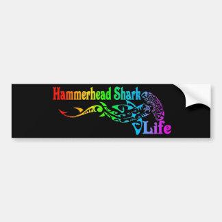 Vida del tiburón de Hammerhead Pegatina De Parachoque