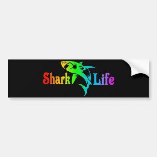 Vida del tiburón pegatina para auto