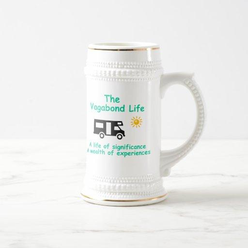 vida del vagabundo jarra de cerveza