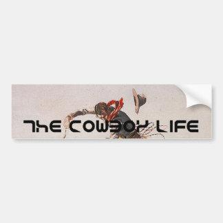 Vida del vaquero de la CAMISETA Etiqueta De Parachoque